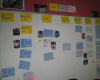 an Agile team card wall