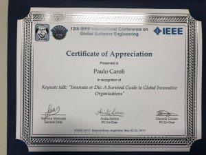 keynote-icse2017-certificate-paulo-caroli